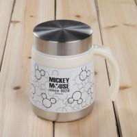 米奇黑白经典不锈钢真空泡茶杯