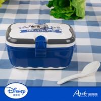 米奇苏格兰餐盒塑饭盒便当盒带提手隔层勺子方便实用